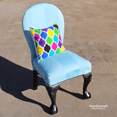 http://www.doodlecraftblog.com/2015/01/upholstered-vintage-claw-foot-chair.html