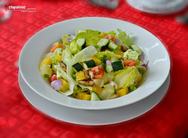 Tropical Salad at Encima Roofdeck Restaurant