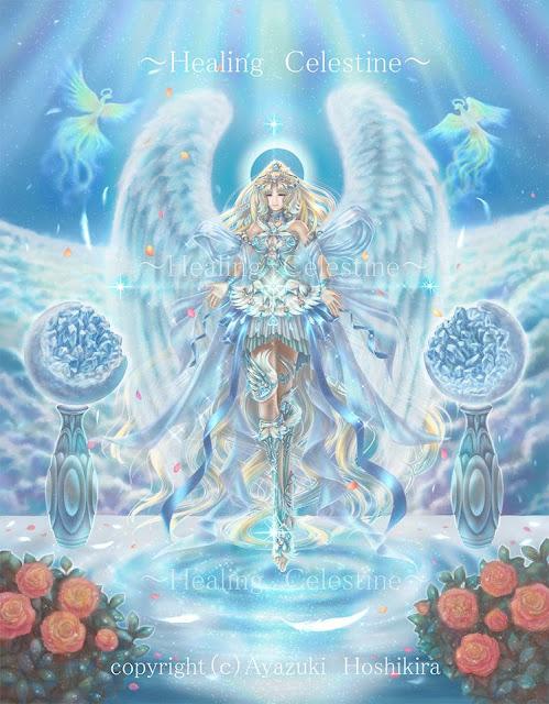 絢月星晶,天使,精霊,女神,妖精,ファンタジーイラスト, スマホケース,マグカップ,空想,絵画