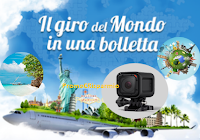 Logo Concorso SisalPay : vinci GoPro Hero,viaggi e il giro intorno al  mondo e non solo!