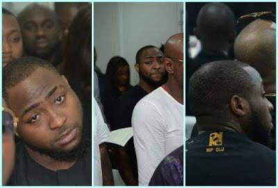 Davido sad late friend, DJ Olu Abiodun's burial
