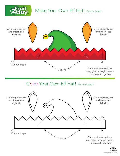 Plantilla gorro Elfo muñeco para imprimir