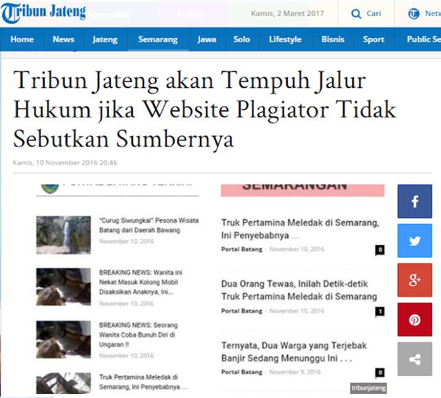 Tribunjateng.con Korban Plagiat Portalbatang.com