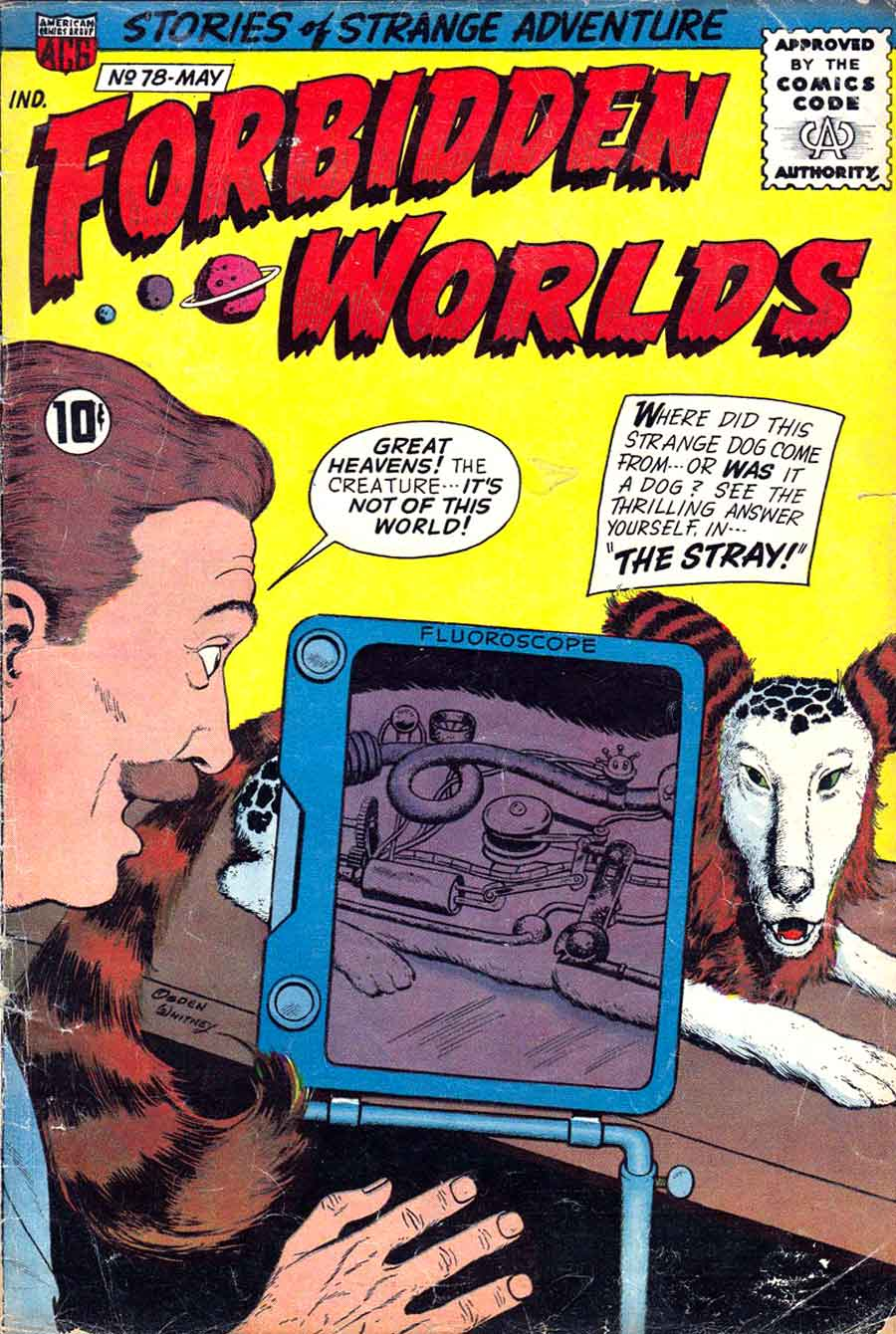 Forbidden Worlds #78 golden age 1950s science fiction comic book cover
