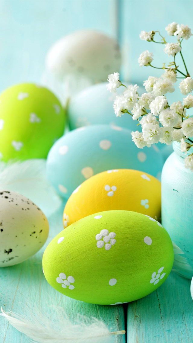 green Easter egg iPhone Wallpapers (1)