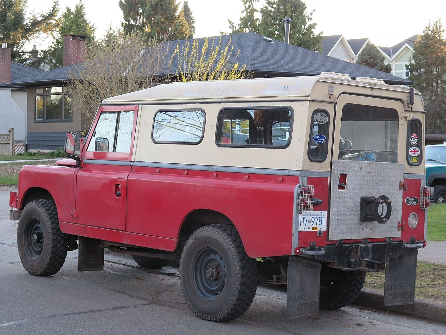Old Parked Cars Vancouver  1966 Land Rover Series Iia