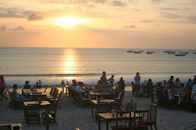 but has at in ane lawsuit developed into ane of the favorite tourist destinations inwards Bali Bali Beach: Jimbaran Beach Bali
