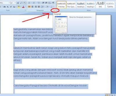 Seringkali kita menemukan kendala berupa paragraf yang berantakan Cara Mengatur Paragraf Secara Otomatis di Ms Word Dengan Mudah