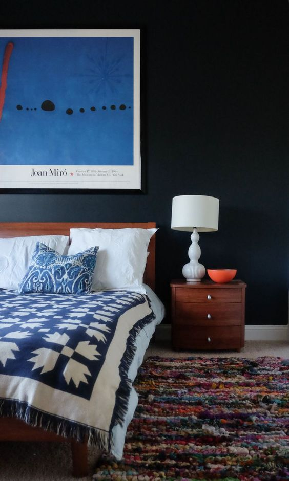 Moody guest bedroom- design addict mom