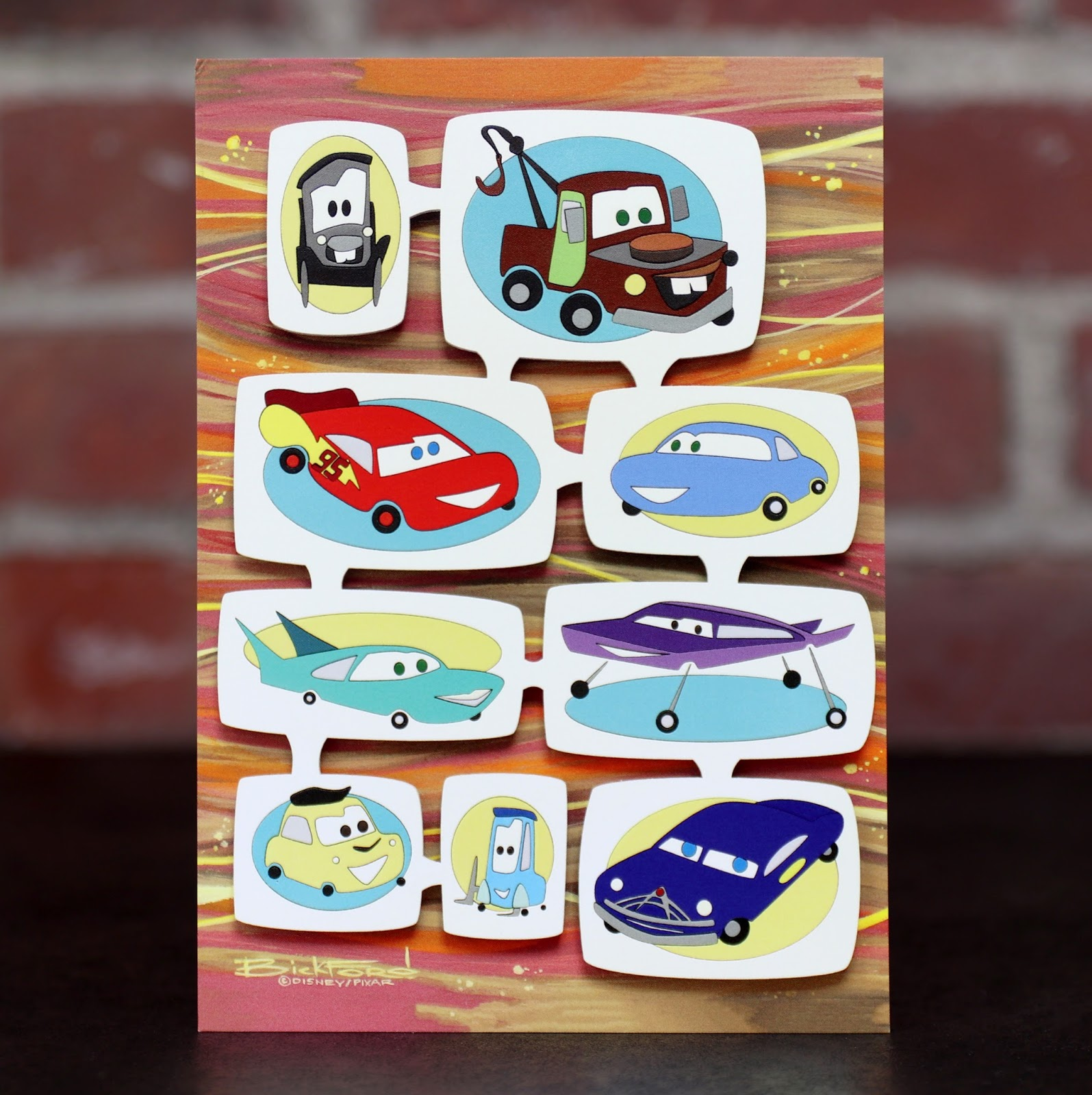 "Cars ""New Wheels"" Postcard Art by Michelle Bickford"