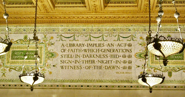 chicago cultural center quote victor hugo mosaic