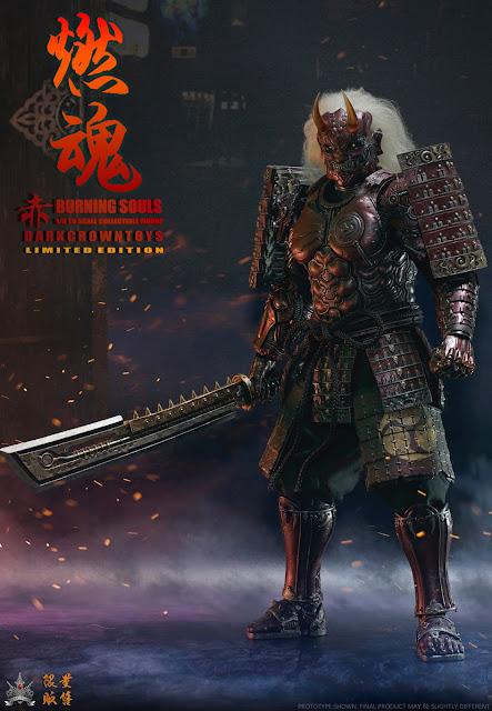 "osw.zone DARKCROWNTOYS 1/6 ""BURNING SOULS"" Series ""Crimson"" Cyborg Samurai 12 inch figurine"