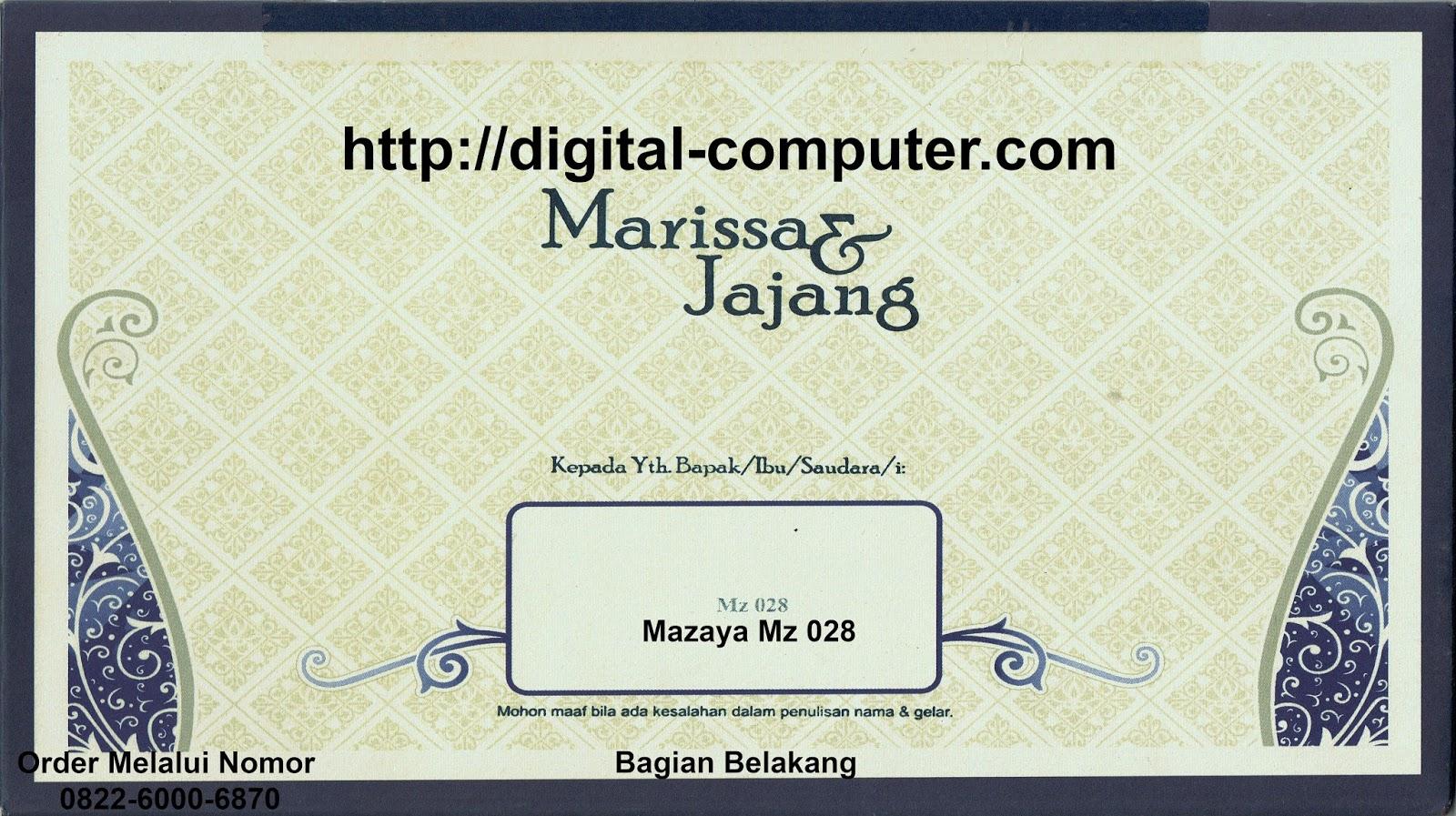 undangan hardcover Mz-028