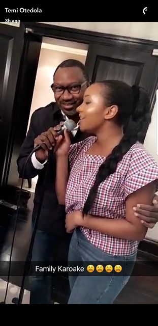 Pictures of  Billionaire Otedola & Daughter Temi Freestyle