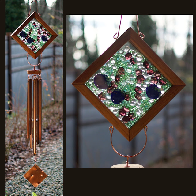 Large outdoor glass and copper wind chime: Coast Chimes