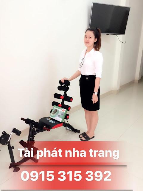 Khách ở Nha Trang mua máy tập cơ bụng đạp xe New 2015 tại Tài Phát