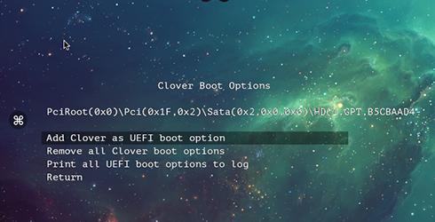 add clover as uefi boot option