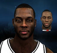 Damion James of Brooklyn Nets Cyber face Patch for NBA 2K12