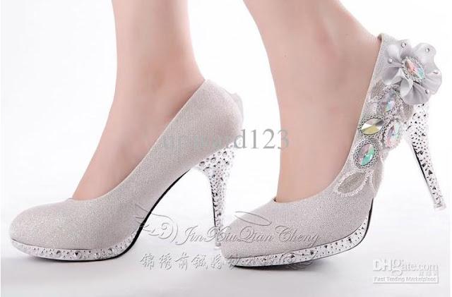 Silver Wedding Flats