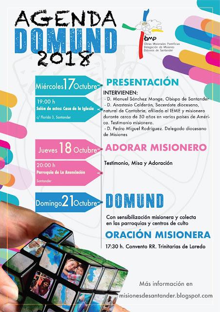 Agenda de Actividades del Domund Diócesis de Santander 2018