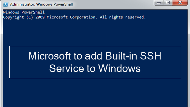 Microsoft Plans to Add Secure Shell (SSH) to Windows
