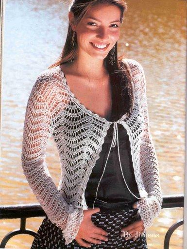 Chaleco Mangas de Crochet