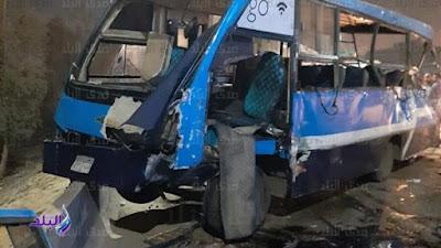 مصرع وإصابة 18 في حادث تصادم على الطريق الدائري.. صور