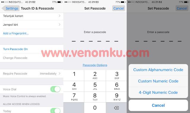 Cara merubah tipe passcode iPhone