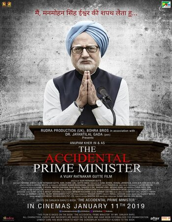 The Accidental Prime Minister (2019) Hindi 720p HDRip 800MB ESubs Movie Download