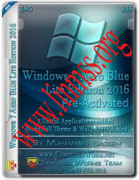 Windows 7 Aero Blue Lite Edition 2016 (32-bit) Activated (694 MB)