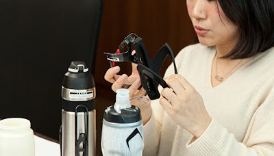 Vacuum insulated straw bottle