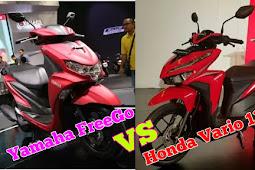 Adu Yamaha FreeGo VS Honda Vario 125, Hebat Mana?