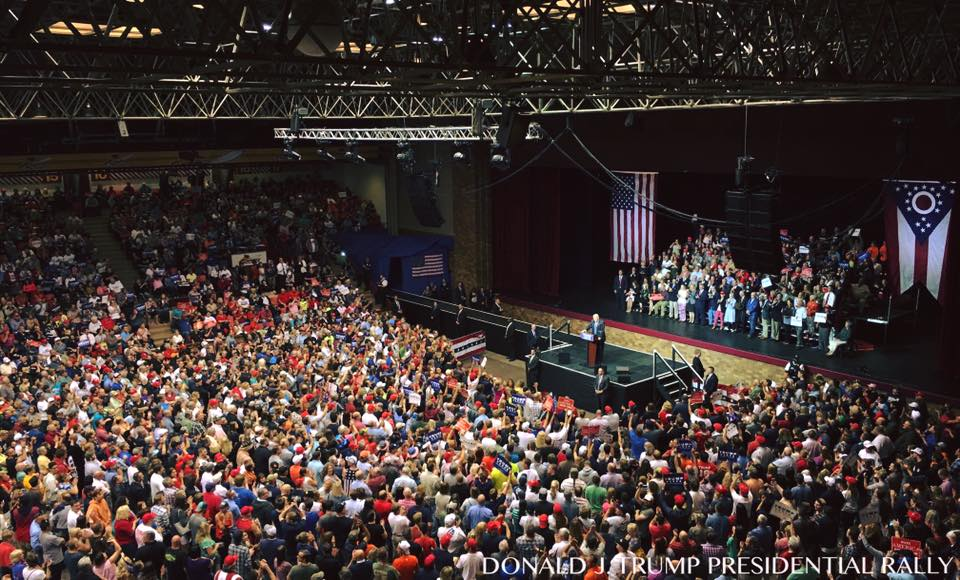 Adriennes corner full trump rally in canton ohio 9142016 a few people showed up publicscrutiny Image collections