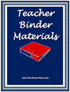 Teacher Binder Materials