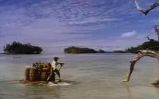 Jelenet az 1997-es Robinson Crusoe filmből