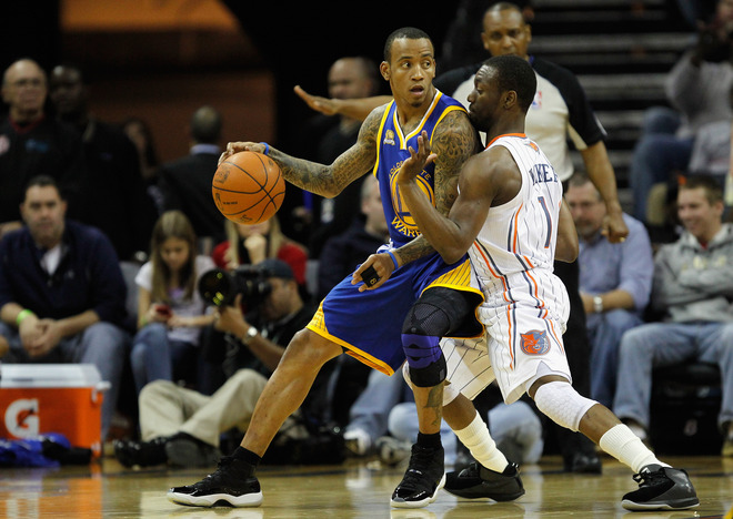 ce8aeee2b13 Golden State Warriors guard Monta Ellis has been a pleasant surprise in our  kicks around the court column this season. After rocking AND1 for the past  few ...