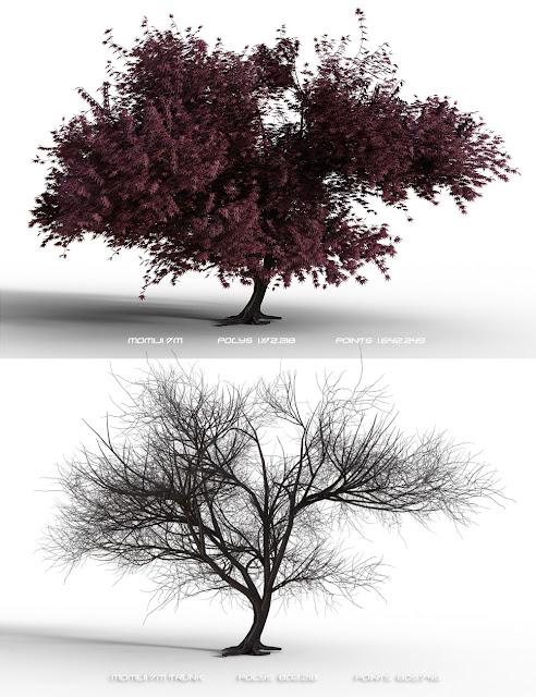 Momiji Trees Extreme Detail