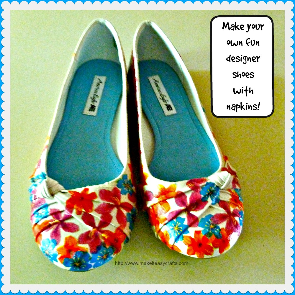 f135a1c99d6d77 Make it easy crafts  How to Make your own fun designer shoes with ...