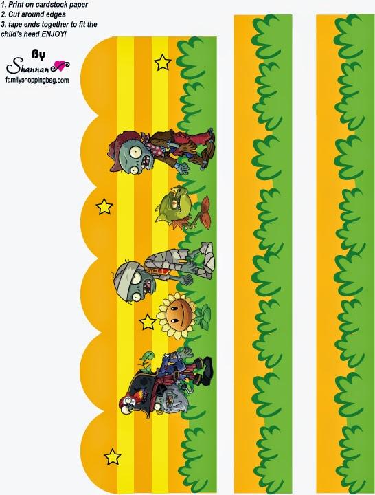 Plants vs Zombies Free Printable Labels.