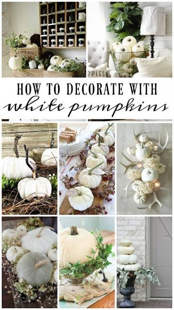 Pinterest Ispiration: decorare con le zucche bianche DIY tutorial semplici autunno ME creativeinside