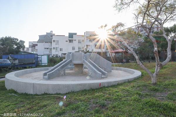 《台中.烏日》學田里兒1公園|復古磨石子溜滑梯公童公園|沙坑|農村彩繪牆