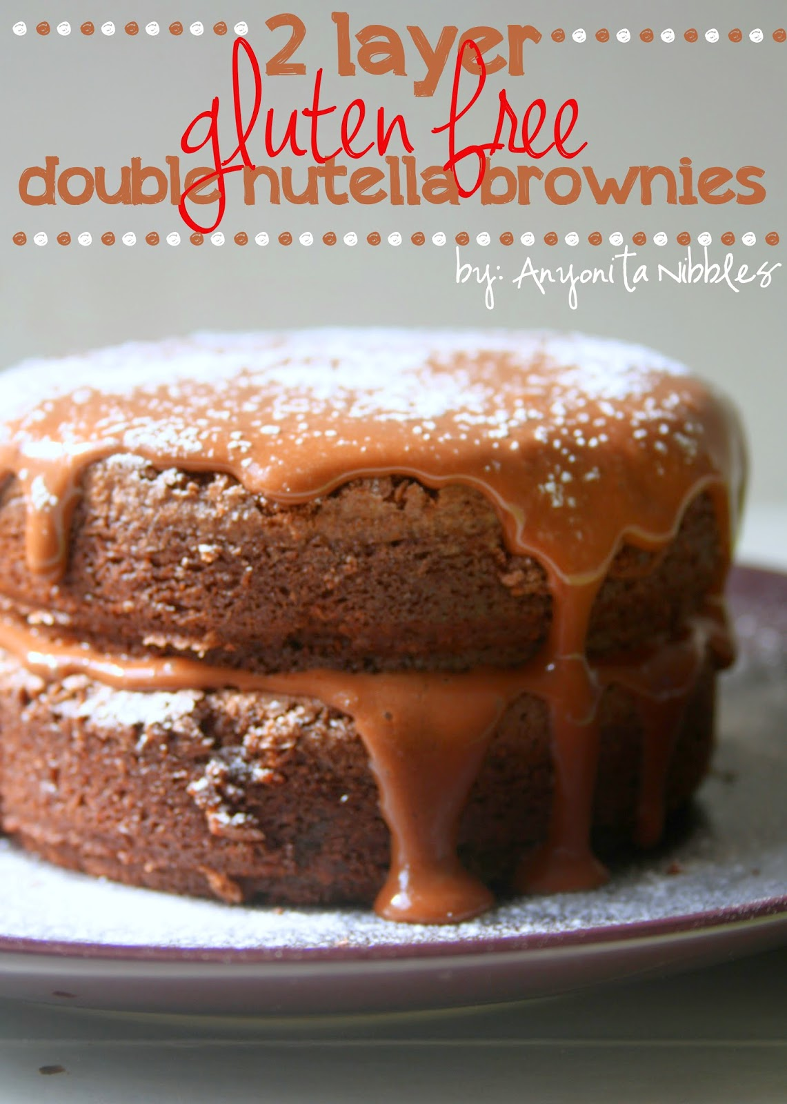 The fudgiest, gluten free brownies on the planet. Made with Nutella. #coeliacapproved