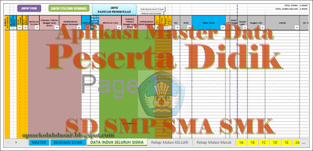 Download Aplikasi Master Data Peserta Didik Format Excel