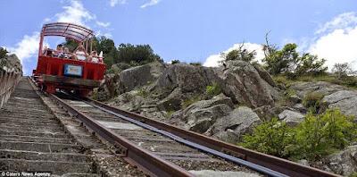 Kereta Api Bukit Paling Curam Di Eropah Dengan Kecerunan Sebanyak 106 Peratus