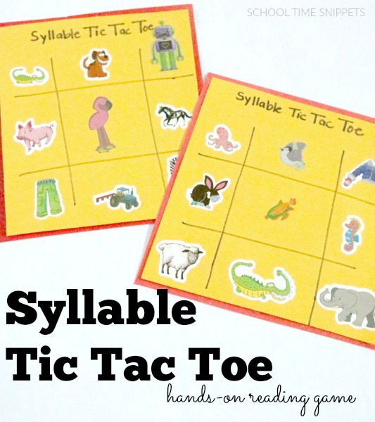 syllable counting reading game