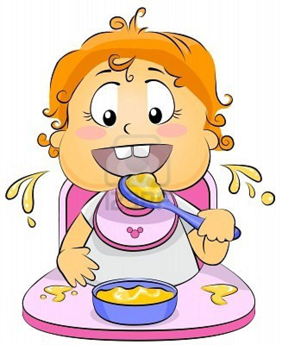 baby eating clipart - photo #33