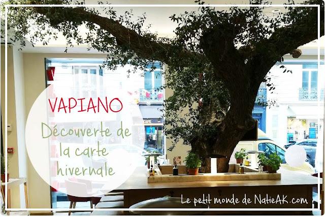 Carte hivernale de Vapiano Restaurant des Champs-Elysées