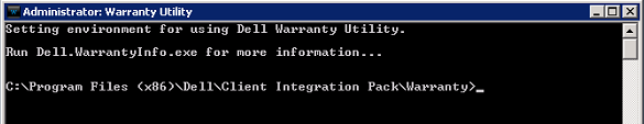 Report on Dell Warranty Statuses for all machines using SCCM & Dell Client Integration Pack 2