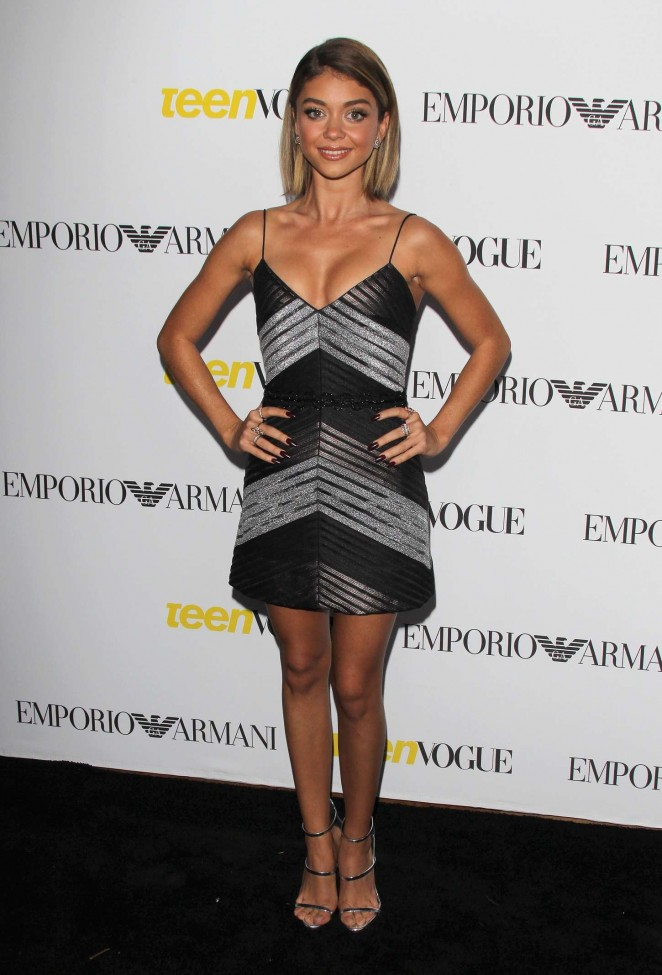 Sarah Hyland in a slinky minidress at Teen Vogue's Annual Young Hollywood Issue Launch Party