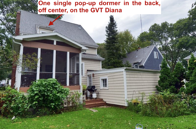 single popup dormer in back of Gordon-Van Tine Diana or Rowan • 213 Grand Avenue, Madison, Wisconsin
